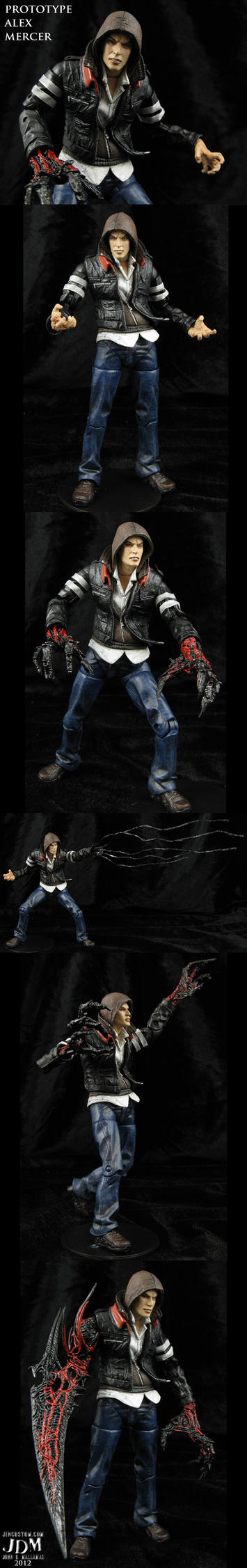 Custom Alex Mercer Prototype action figure by Jin-Saotome
