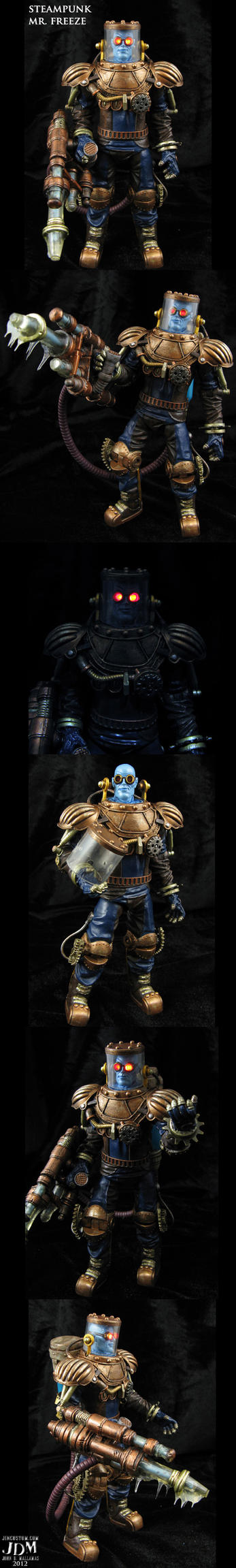 Steampunk DC Mr Freeze action figure by Jin-Saotome