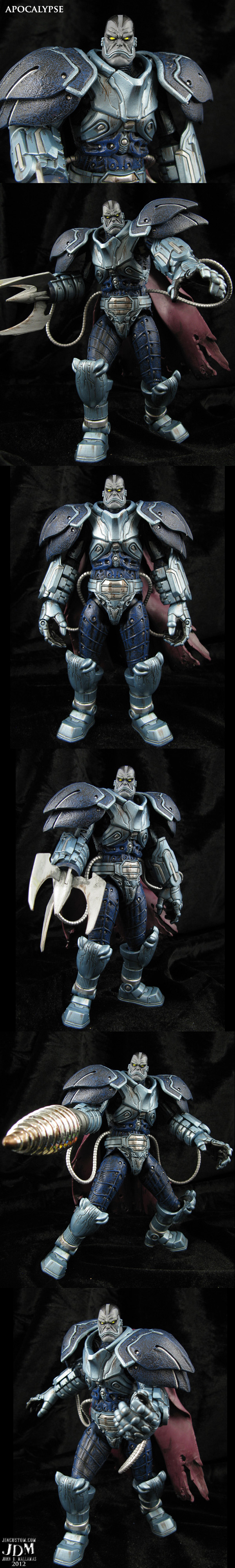 Custom Apocalypse Marvel movie style figure by Jin-Saotome