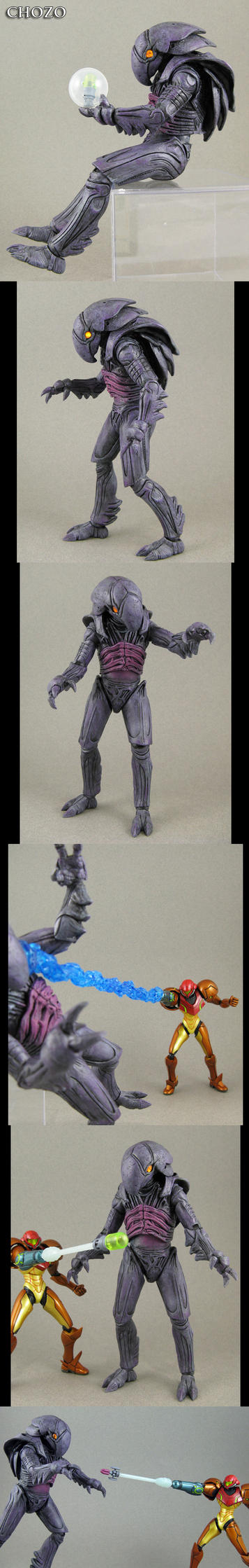Metroid Chozo Statue custom figure by Jin-Saotome