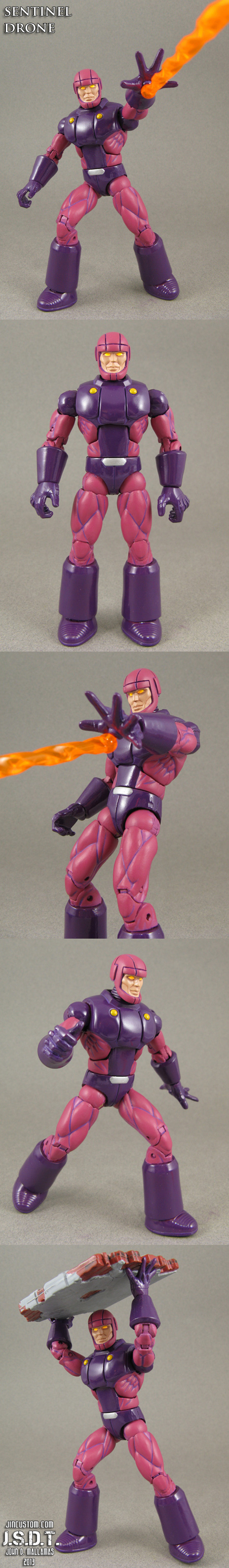 X-Men Arcade game Sentinel Drone Custom Figure by Jin-Saotome