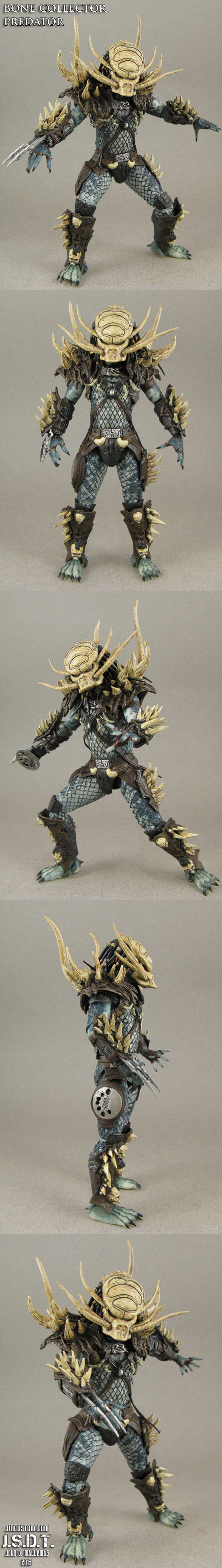 Custom Bone Collector NECA Predator figure by Jin-Saotome