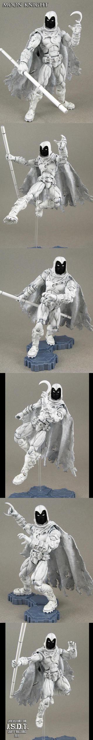 Custom Marvel Legends Moon Knight figure by Jin-Saotome