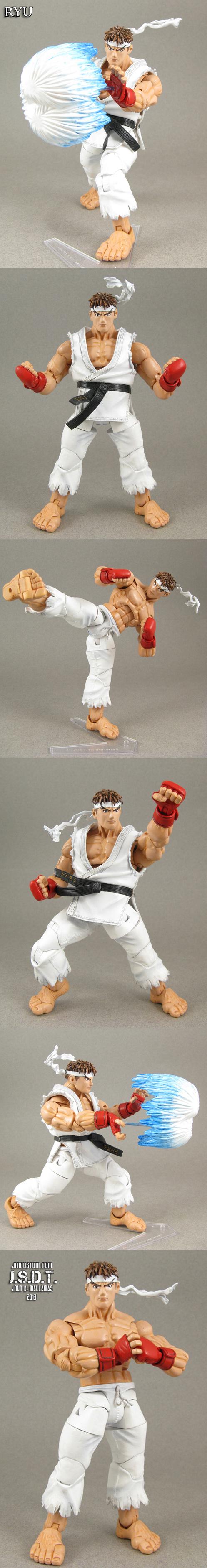 Street Fighter Alpha Ryu custom figure by Jin-Saotome