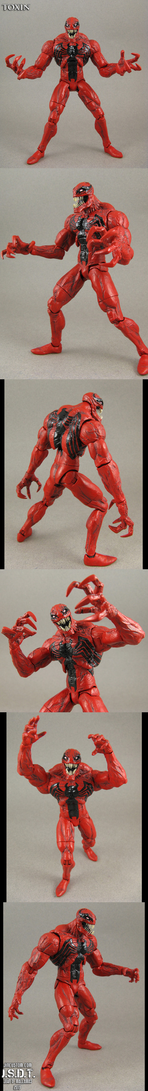 Eddie Brock Toxin Custom action figure by Jin-Saotome