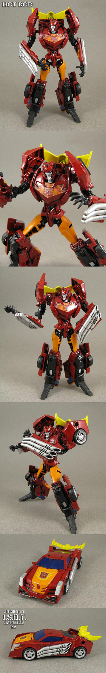 Custom Transformers Prime Hot Rod Figure by Jin-Saotome