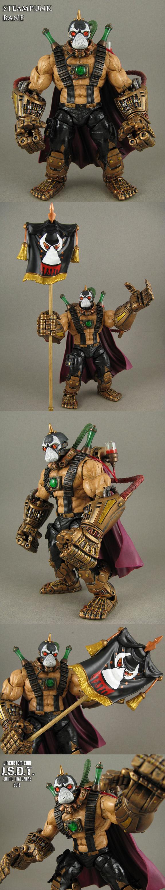 Custom Steampunk Bane DC Universe figure by Jin-Saotome