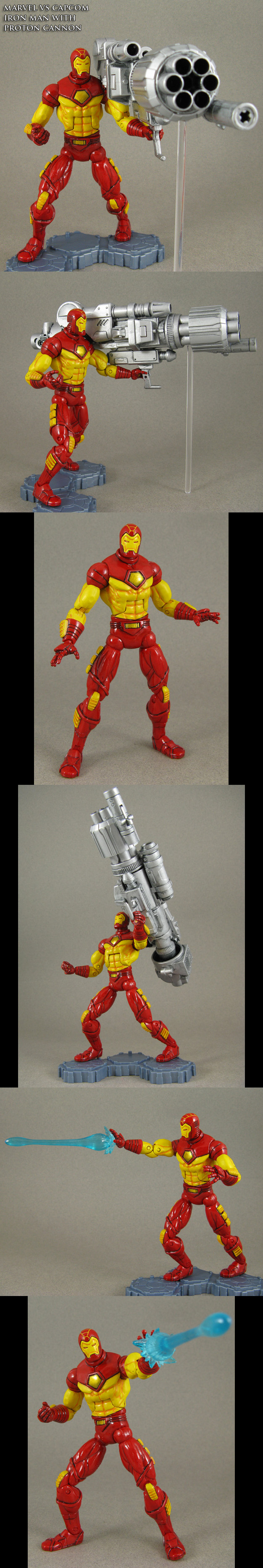 Custom Proton Cannon MvC2 Iron Man figure by Jin-Saotome