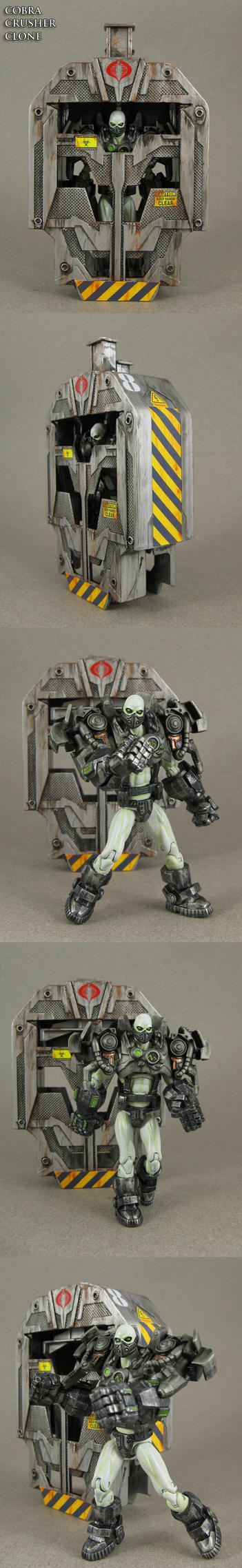 Custom Cobra Crusher Clone figure with drop pod by Jin-Saotome