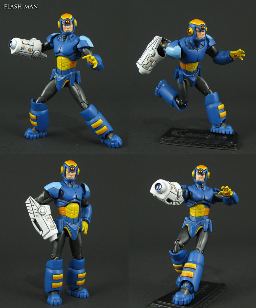 Custom Flash Man Megaman Robot Masters figure by Jin-Saotome
