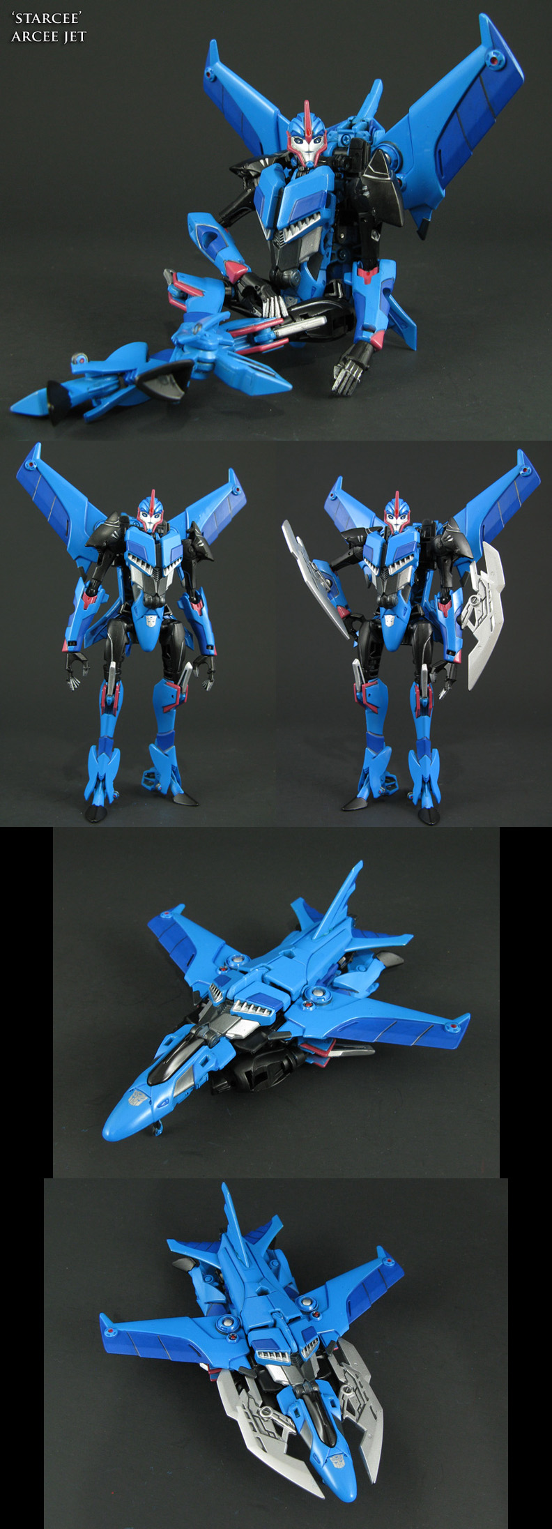 Transformers Starcee custom Arcee jet mode by Jin-Saotome