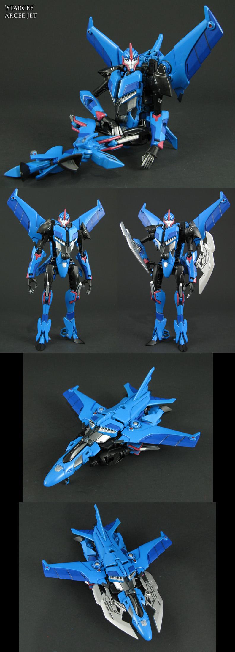 Transformers Starcee custom Arcee jet mode by Jin-Saotome