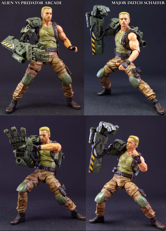 Alien Vs Predator Arcade Major Dutch Schaefer by Jin-Saotome