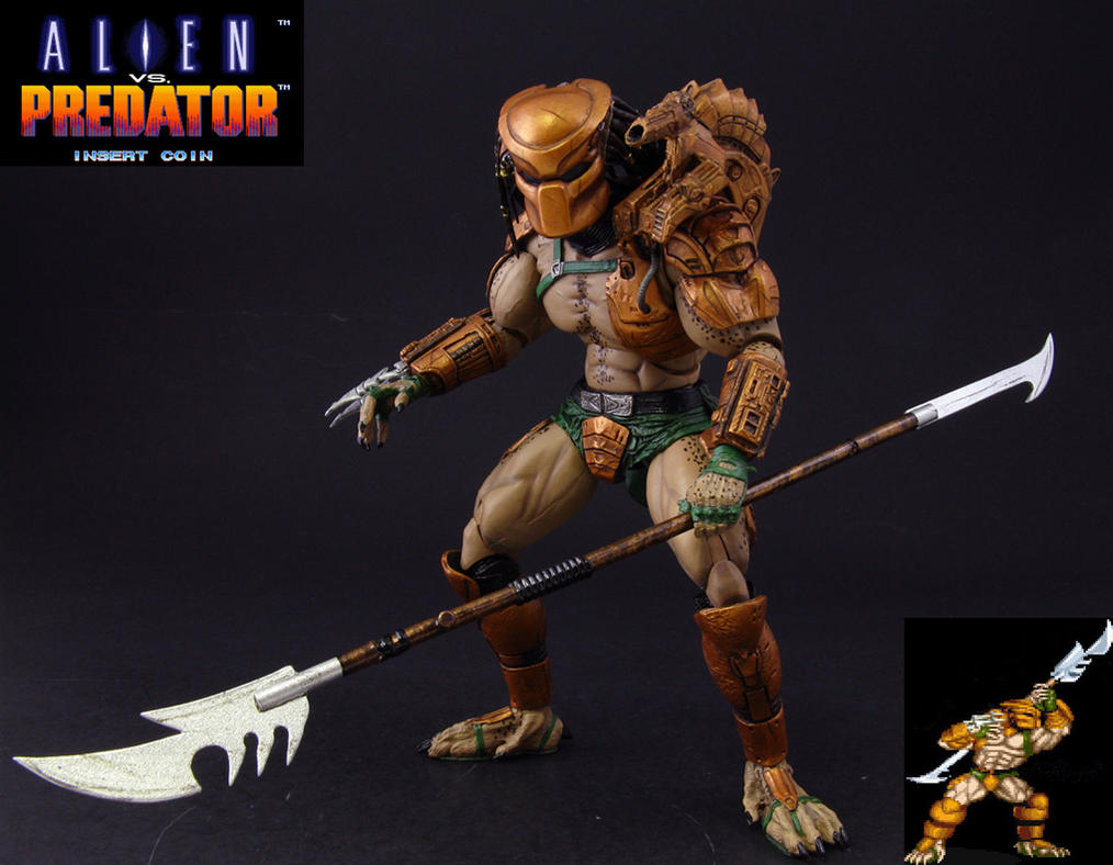 Custom Alien Vs Predator Arcade Hunter figure by Jin-Saotome