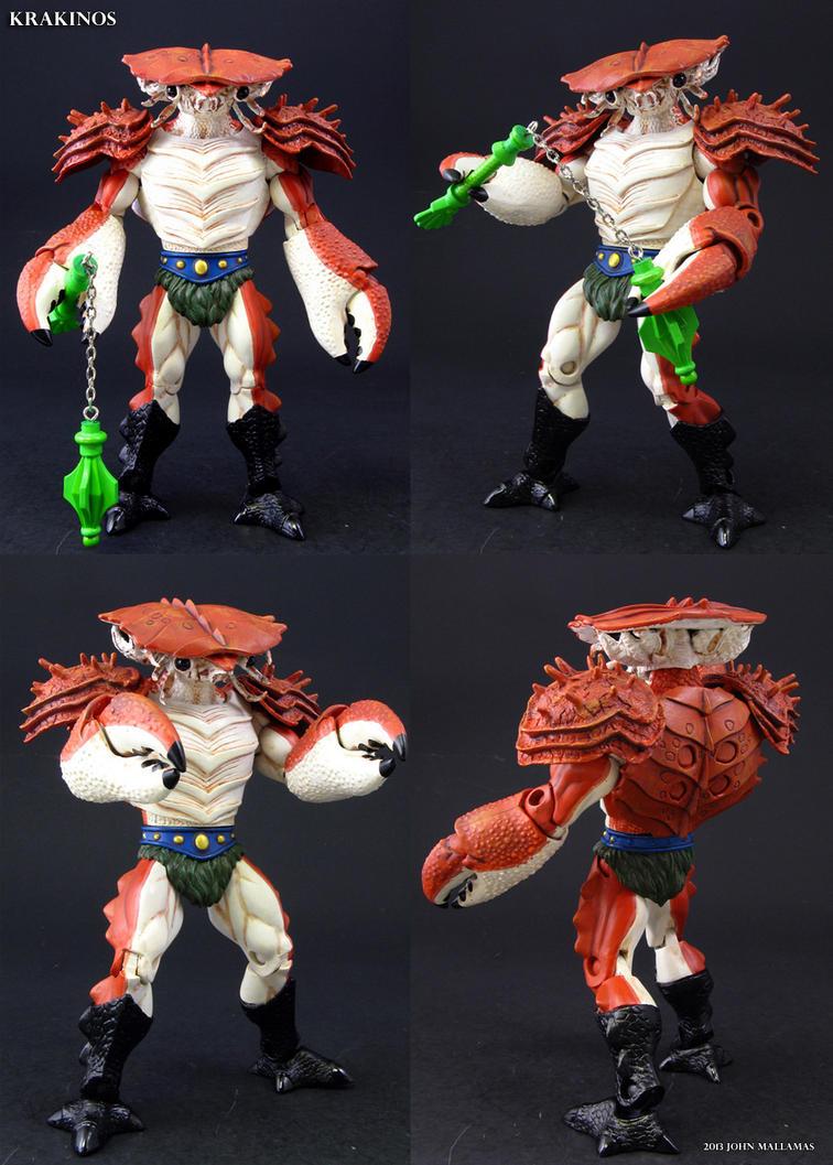 Custom Masters of the Universe Krakinos figure by Jin-Saotome