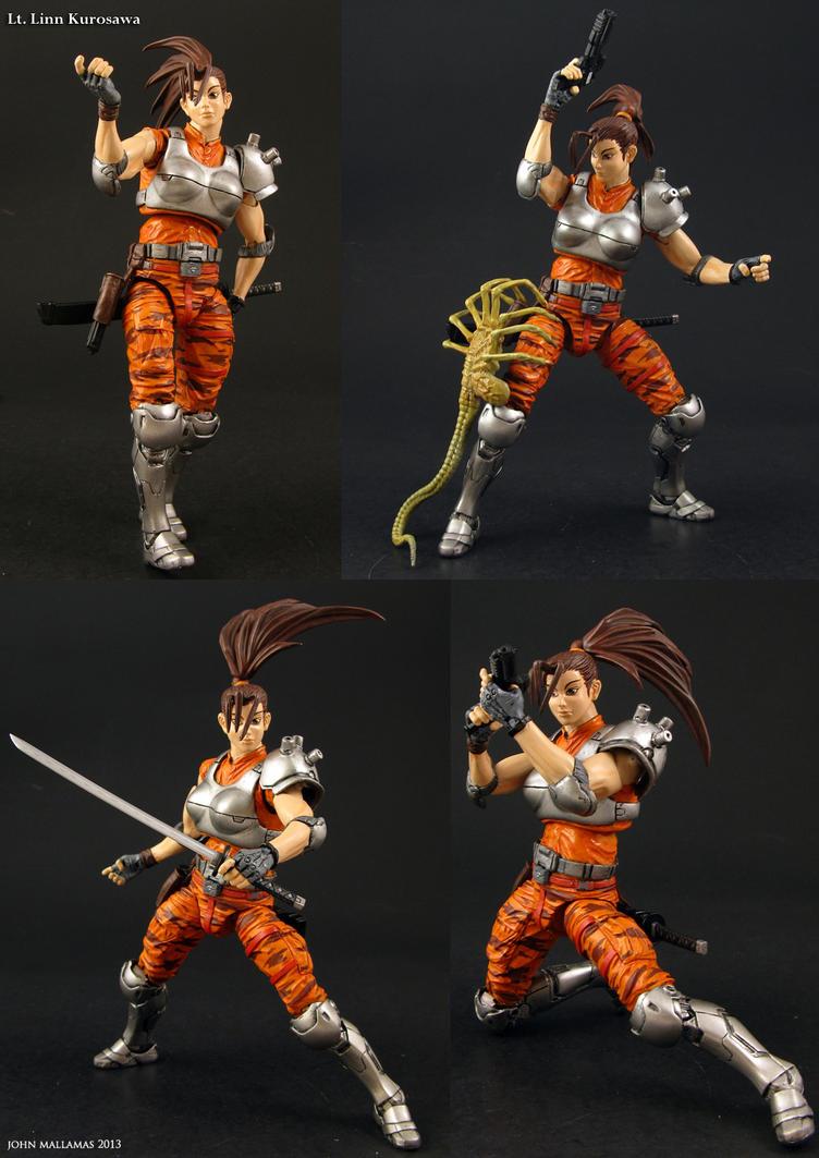 Alien vs Predator Arcade Linn Kurosawa figure by Jin-Saotome