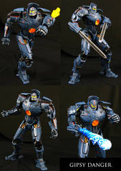 Gipsy Danger custom Jaeger figure by Jin-Saotome