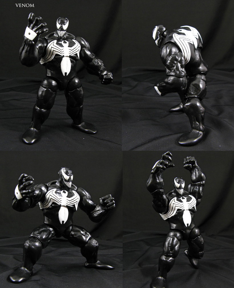 Venom Marvel Universe scale custom figure by Jin-Saotome