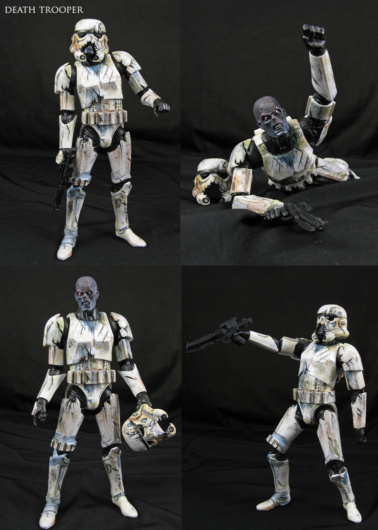 Custom Star Wars Death Trooper zombie figure by Jin-Saotome