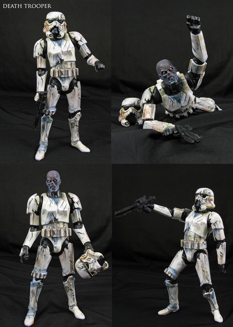 Custom Star Wars Death Trooper zombie figure by Jin-Saotome
