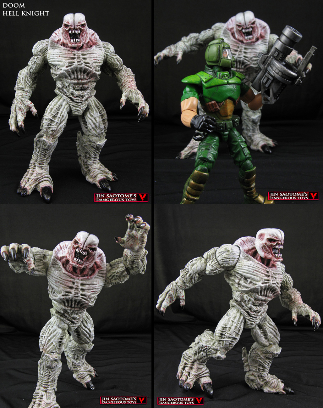 custom doom hell knight action figure by jinsaotome on