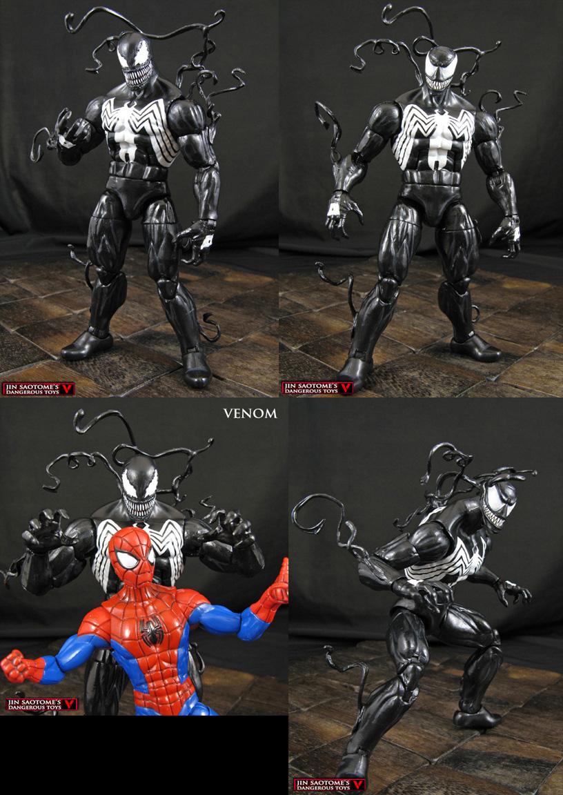 Custom Venom Marvel Legends Infinite Figure by Jin-Saotome