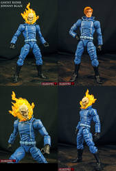 Custom Ghost Rider Johnny Blaze figure