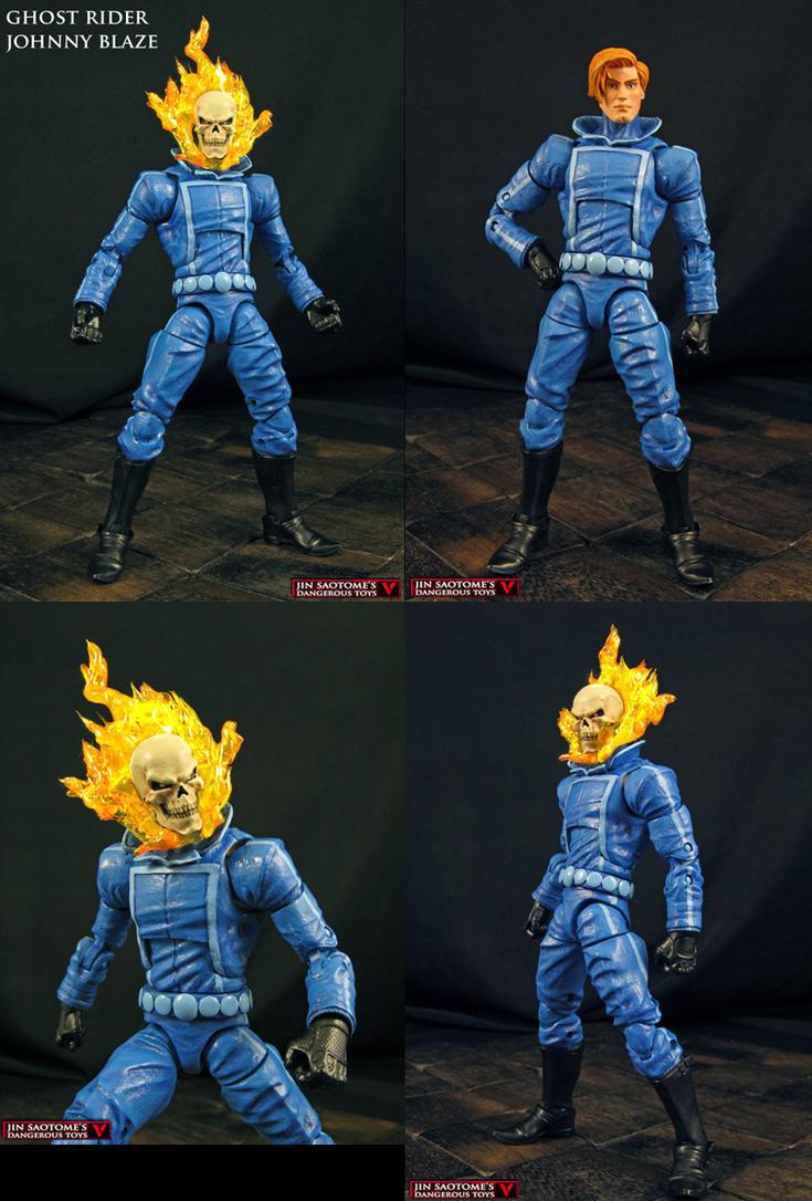 Custom Ghost Rider Johnny Blaze figure by Jin-Saotome