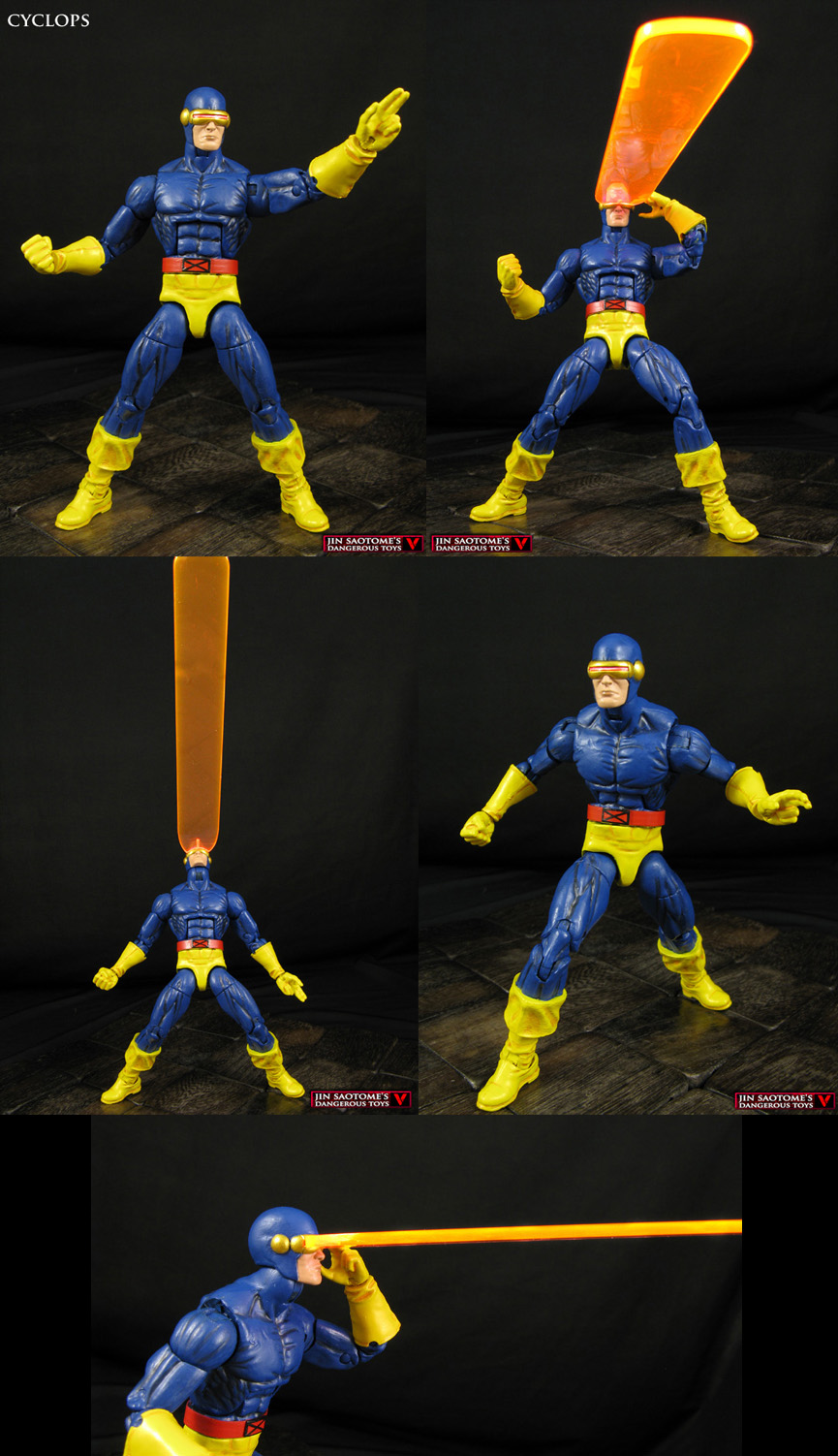 Custom Cyclops Legends figure with Optic Blast by Jin-Saotome