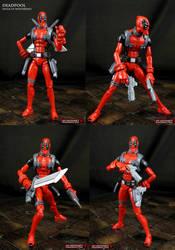 Deadpool Hulk vs Wolverine style custom figure by Jin-Saotome