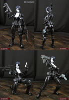 Custom Marvel Legends Domino Figure by Jin-Saotome