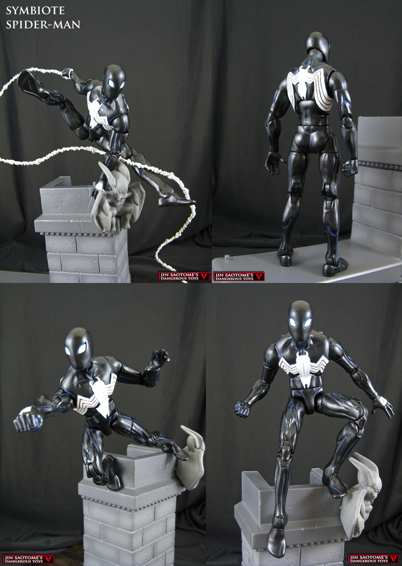 Symbiote Spider-Man custom action figure by Jin-Saotome