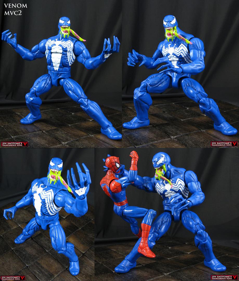 Venom Game Toy : Custom marvel vs capcom venom action figure by jin