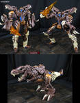 Beast Wars Dinobot custom done AoE movie style