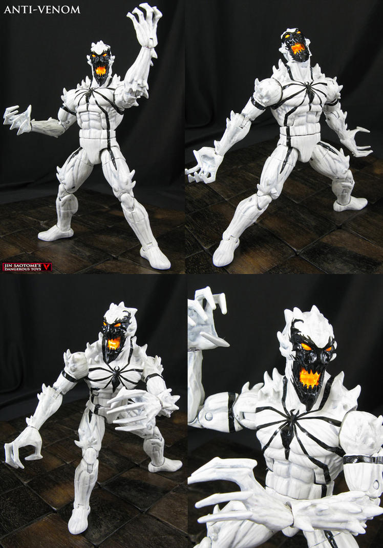Anti-Venom custom Marvel Legends action figure by Jin-Saotome