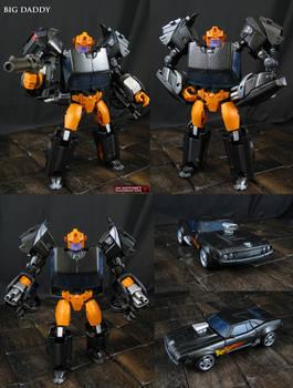Custom Big Daddy Transformers Figure
