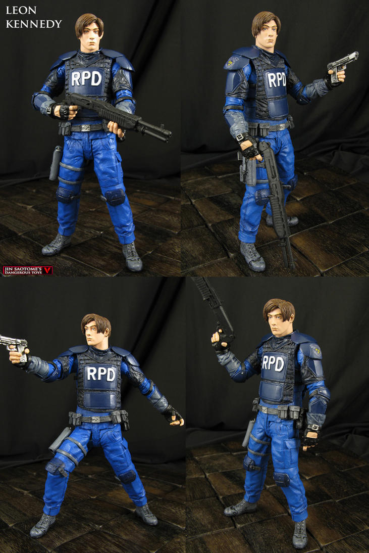 Custom Resident Evil 2 Leon Kennedy action figure by Jin-Saotome