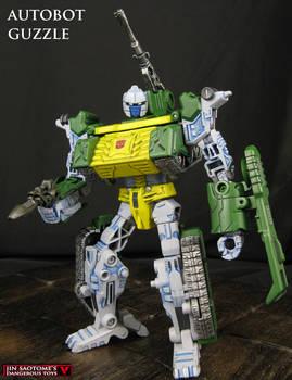 Custom Transformers Wreckers Guzzle figure