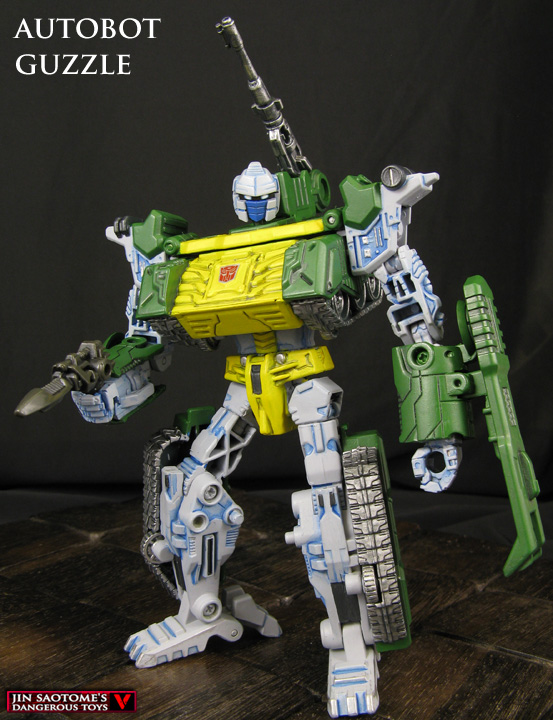 Custom Transformers Wreckers Guzzle figure by Jin-Saotome