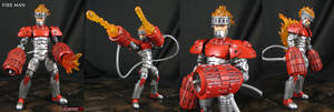 Custom Fire Man Megaman Marvel Legends Figure