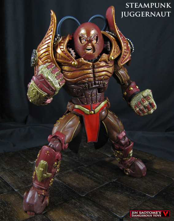Steampunk Juggernaut custom Marvel Legends figure by Jin-Saotome