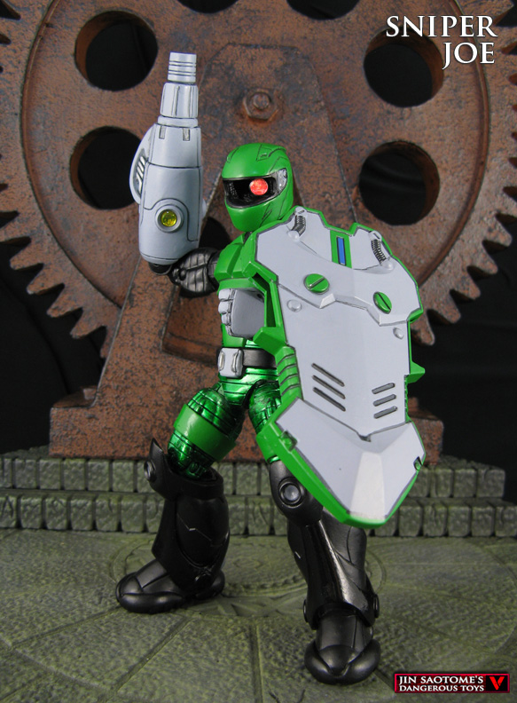 Sniper Joe Megaman custom action figure by Jin-Saotome