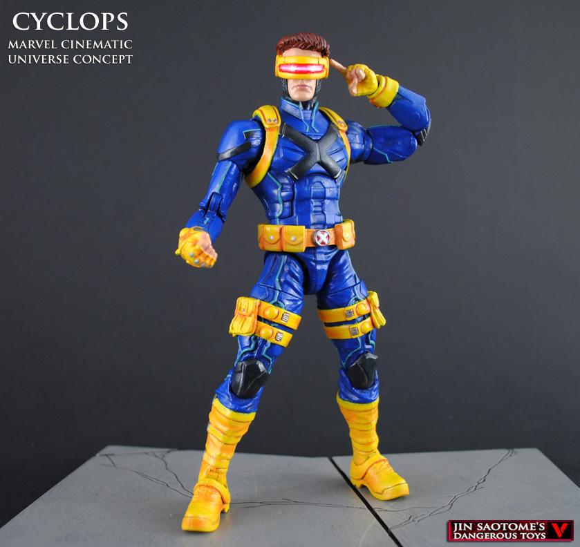 Mcu Style Cyclops Custom Marvel Legends Figure By Jin