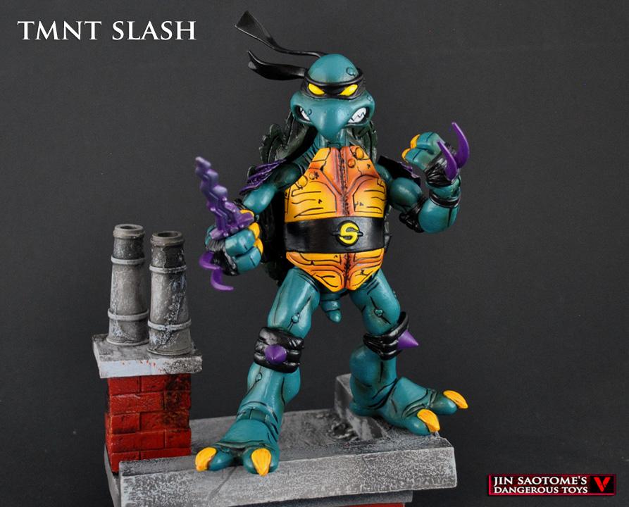 TMNT Slash NECA style custom figure by Jin-Saotome