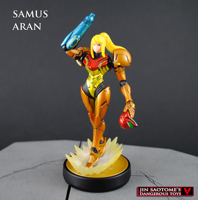 Custom Samus Aran Amiibo figure by Jin-Saotome