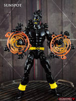 Custom Marvel legends Sunspot figure by Jin-Saotome