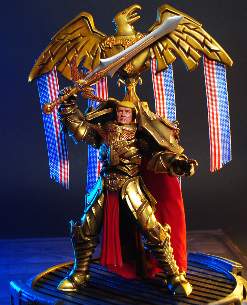 God Emperor Trump custom action figure by Jin-Saotome