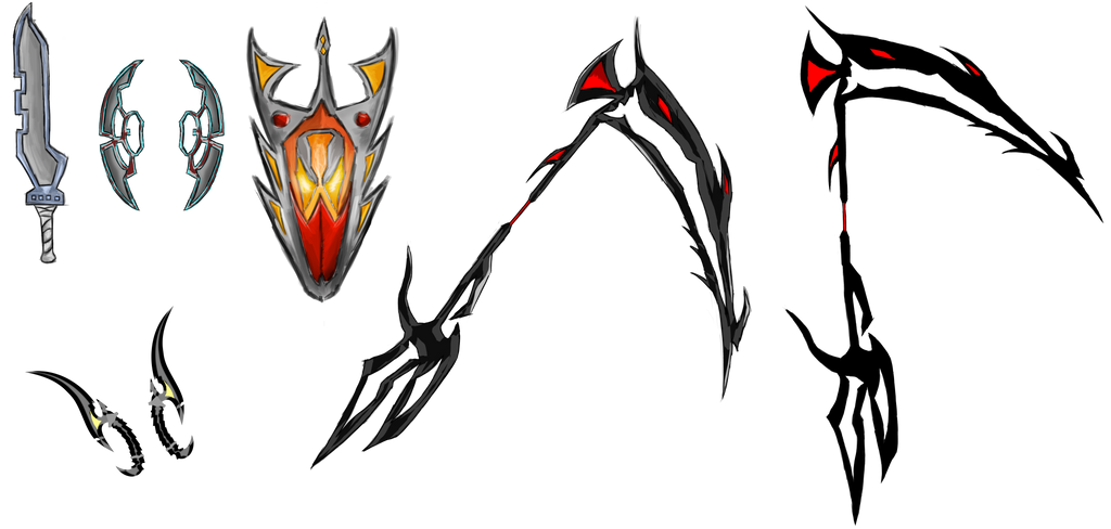 [Concept Art] - Weaponry by MAND4Drawings