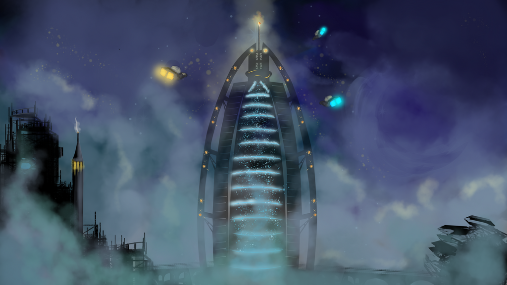 City in The Clouds by MAND4Drawings
