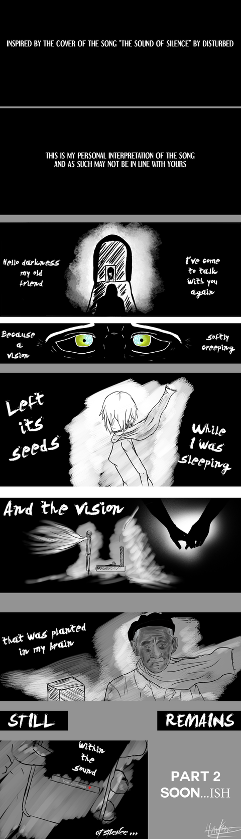 The Sound of Silence Interpretation [pt1] by MAND4Drawings